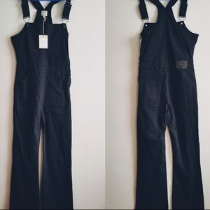 Torn by Ronny Kobo black overall flare leg,27,new